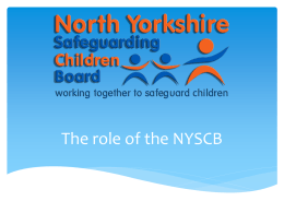 Briefing - North Yorkshire Forum for Voluntary Organisations