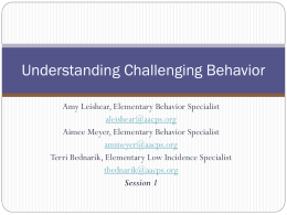 Challenging Behavior Session 1 PPT