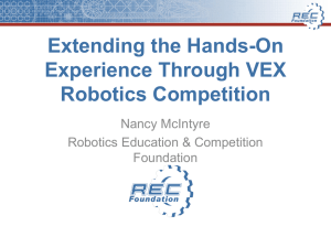 Extending the Hands- On Experience Through VEX