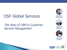 Role of CRM in Integrated Service Management