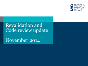 NMC revalidation and code review slides