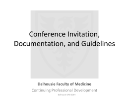 Conference Invitation, Documentation, and Guidelines