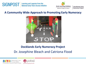 Early Years Numeracy Project- National College of Ireland