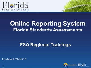 Online Reporting System (ORS)