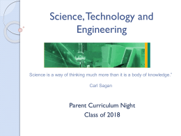 Science, Technology and Engineering