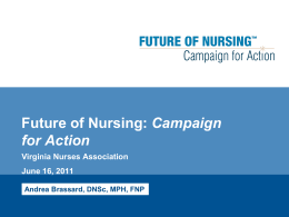 Future of Nursing - Campaign for Action