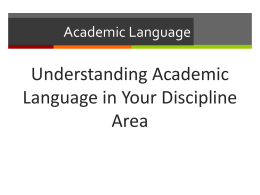 Academic Language