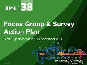 APNIC Focus Group and Survey Action Plan