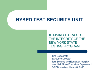 NYSED Test Security Unit