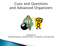 Generalizations from the Research on Cues and Questions