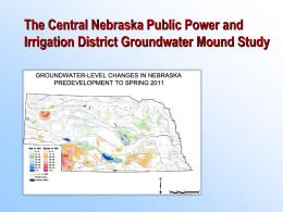 Groundwater Mound Study Discussions