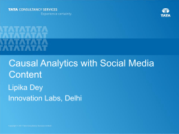 A Causal Analytics Framework to integrate Social Media Content
