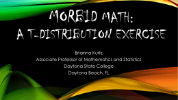 Morbid Math: A t-distribution Activity