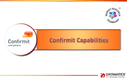Confirmit Capabilities_Datamatics_29Aug2013