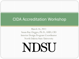 Assessment - Council for Interior Design Accreditation