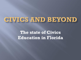 Civics and Beyond - Middle School Programs