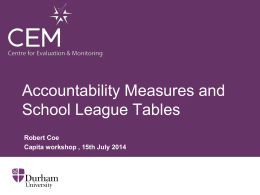 Accountability Measures and School League Tables (ppt)