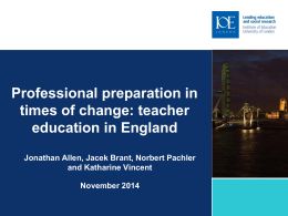 teacher education in England