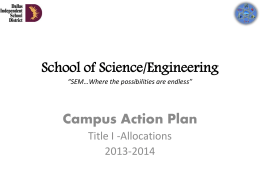 2013-2014 Action Plan - Dallas Independent School District