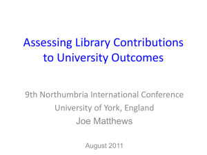 Assessing Library Contributions to University