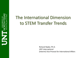 The International Dimension to STEM Transfer Trends