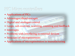 PIC Micro controllers1