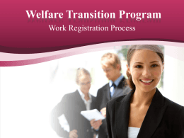 Work Registration Process - Department of Economic Opportunity