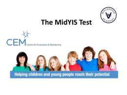 The Midyis Test - Holbrook Academy