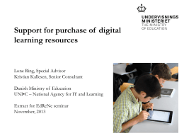 Support for purchase of digital learning resources