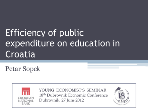 Efficiency of public expenditure on education in Croatia
