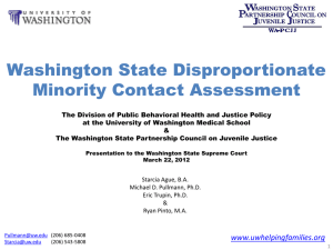 Washington State Disproportionate Minority Contact Assessment