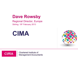 CIMA Presentation Stirling
