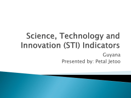 Science, Technology and Innovation Indicators