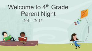Fourth Grade Parent Night powerpoint