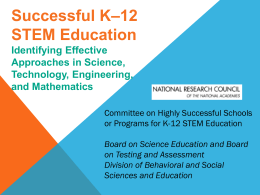 12 STEM Education: Effective Approaches in K