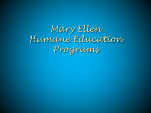 File - Mary Ellen Humane Education Programs