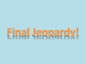 Q2 Final Jeopardy