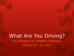 What Are You Driving? (PowerPoint)