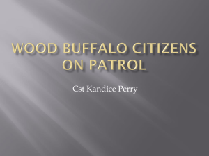 Wood Buffalo Citizens on Patrol