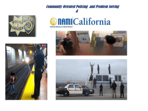 Community Oriented Policing and Problem