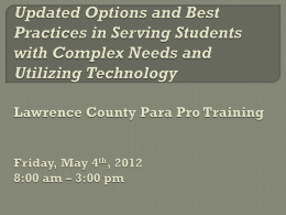 ParaProfessional Training - Big East Educational Cooperative