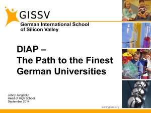 Information on DIAP - German International School of Silicon Valley