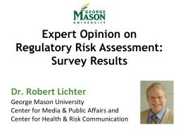 Dr. Robert Lichter - International Society of Regulatory Toxicology