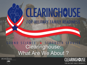 PPT - Clearinghouse for Military Family Readiness