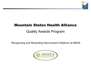 MSHA Quality Awards Program