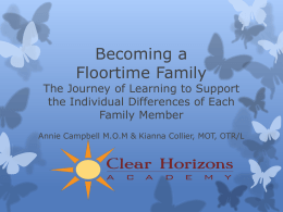 Becoming a Floortime Family
