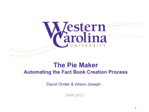 The Pie Maker - Automating the Fact Book Creation Process