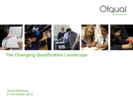Janet Holloway, OFQUAL