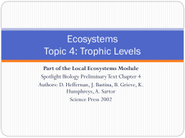 Ecosystems Topic 4: Trophic Levels - Wikispaces