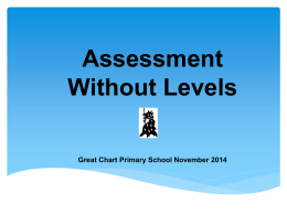 Assessment Without Levels PowerPoint